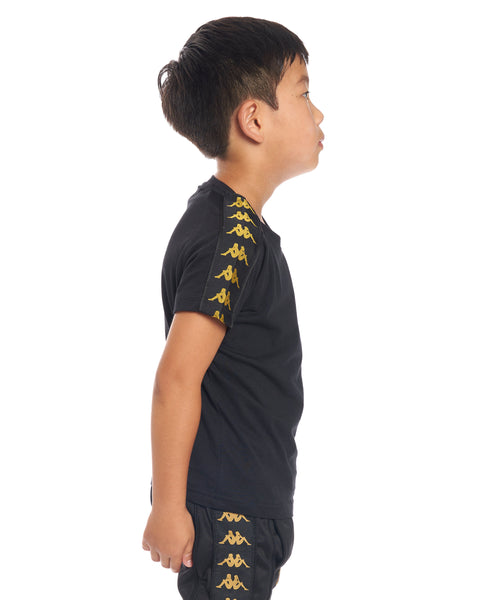 Kids Authentic 222 Banda Coen Slim T-Shirt Black Gold