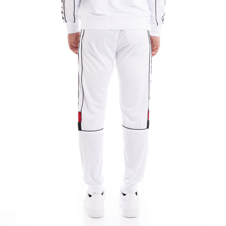 Kappa 222 Banda Memzz White Red Black Trackpants