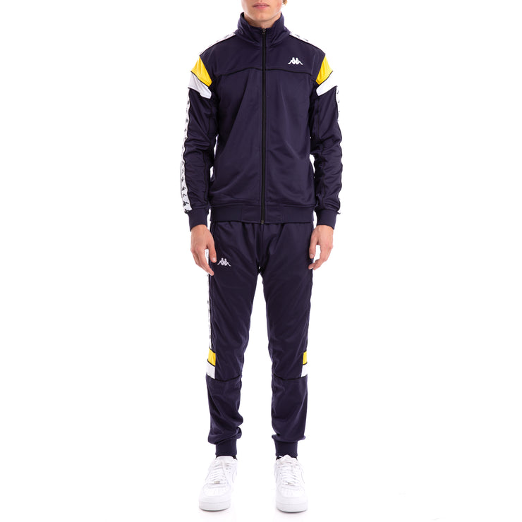 Kappa 222 Banda Merez Slim Bluemar Yellow White Track Jacket