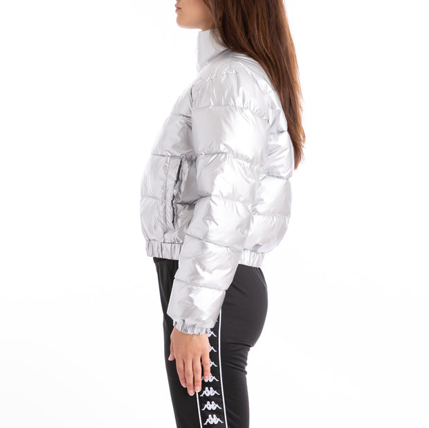 Authentic LA Boltan Silver Black White Jacket Silver Black White