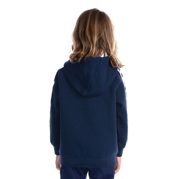 Kids 222 Banda Deniss Reflective Hoodie - Blue Grey Reflective