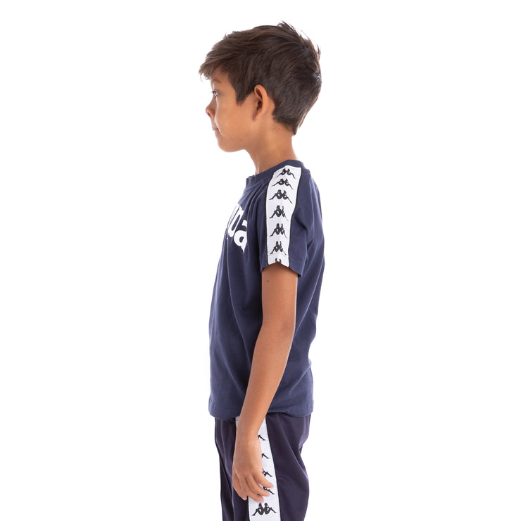 Kids 222 Banda Balima T-Shirt - Blue Marine White