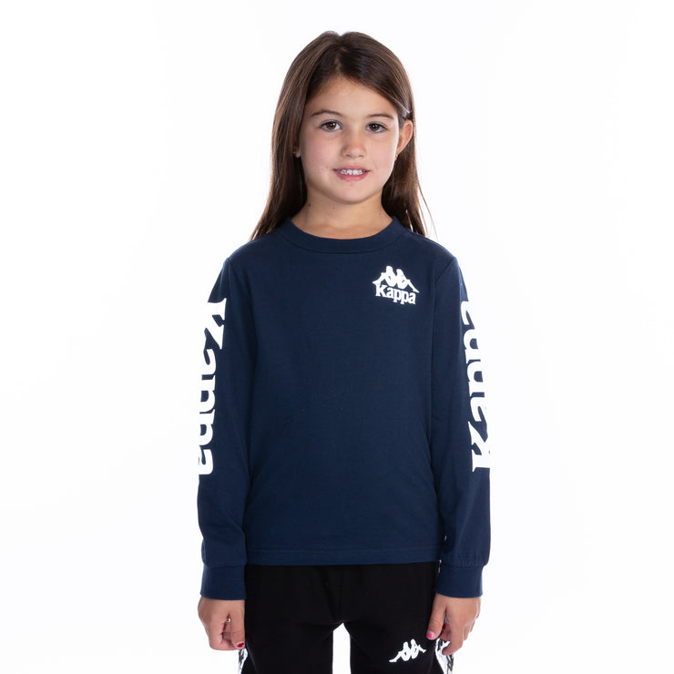 Kids Authentic Defer Reflective Long Sleeve T-Shirt Blue Grey Reflective