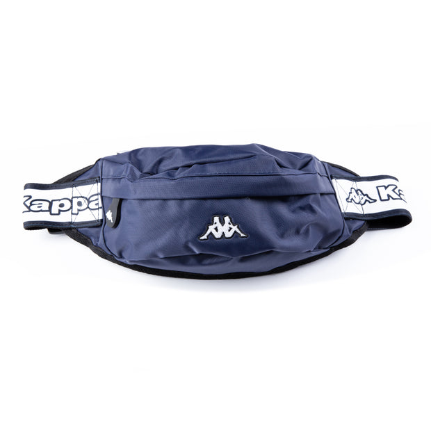 Logo Tape Bais Pouch Bag Blue Navy White Black