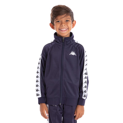 Kids 222 Banda Anniston Track Jacket Blue Marine White