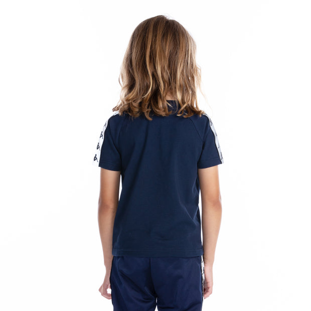 Kids 222 Banda Michael Reflective T-Shirt - Blue Grey Reflective