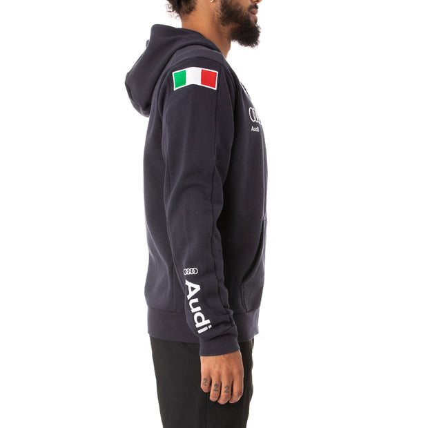 Kappa 6Cento Argum 3F Fisi Zip Hoodie - Blue Night