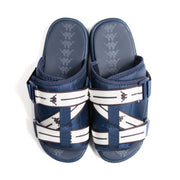 Authentic Jpn Mitel Blue Md White Sandals