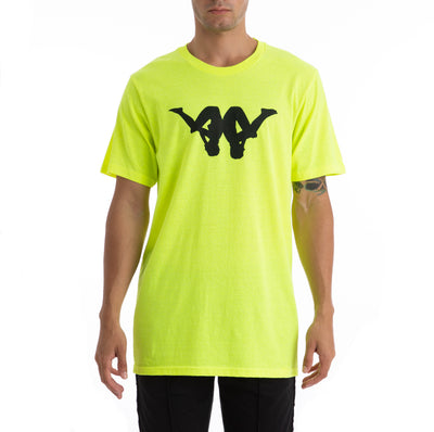 Kappa Authentic Bekke Green Lime Black White T-Shirt