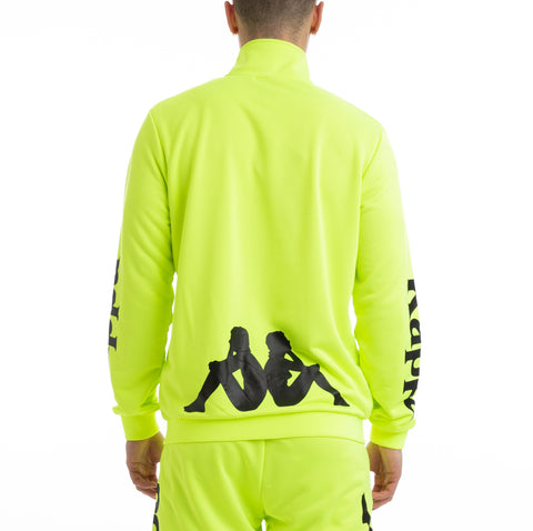 Kappa Kalcio Bouvilly Yellow Fluo Black Jacket