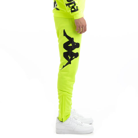 Kappa Kalcio Bigily Yellow Fluo Black Trackpants