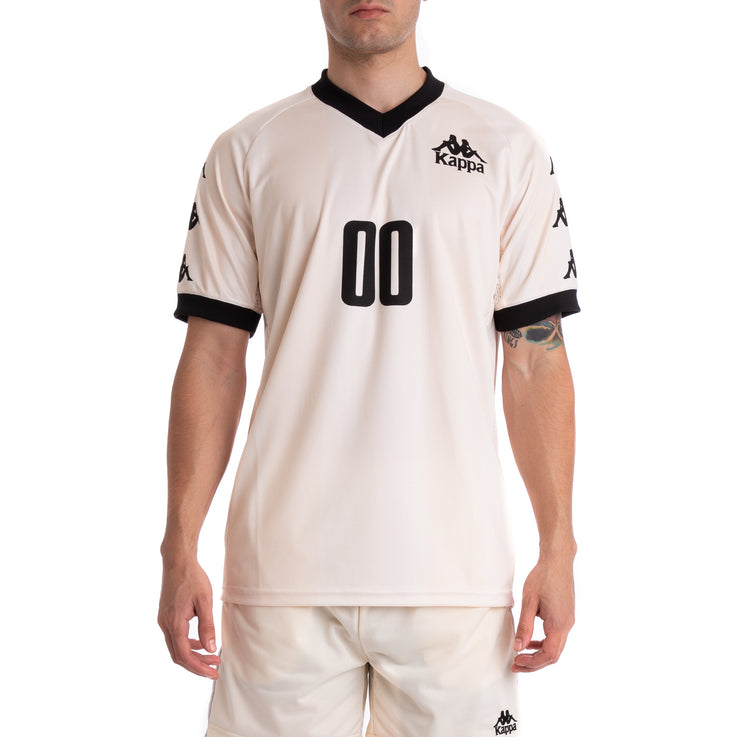 Kappa Authentic Tabe Beige Cream Black Jersey