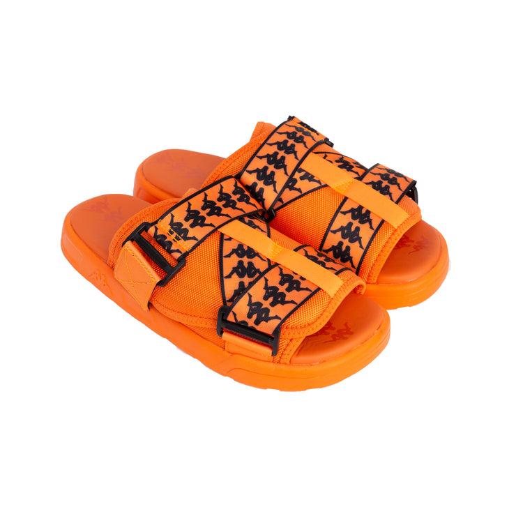 222 Banda Mitel 1 Sandals - Orange Flame Black