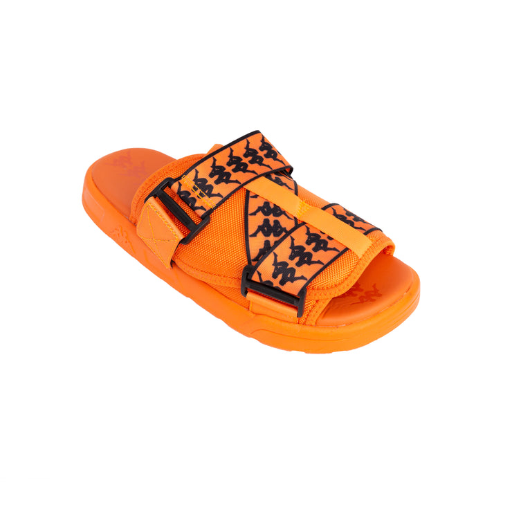 222 Banda Mitel 1 Orange Flame Black Sandals