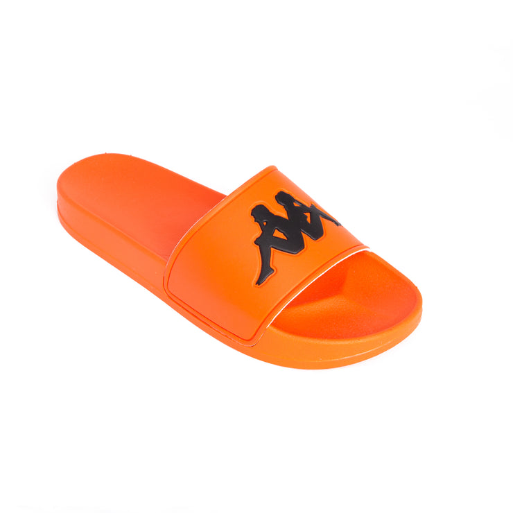 Authentic Adam 2 Orange Flame Black Slides