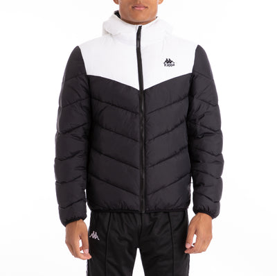 222 Banda Amarit Black White Padded Jacket