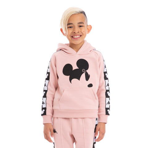 Kappa Kids Authentic Abel Disney Pink Dusty Black Hoodie