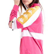 Kappa 222 Banda 10 Banik Fuchsia White Yellow Oversized Jacket