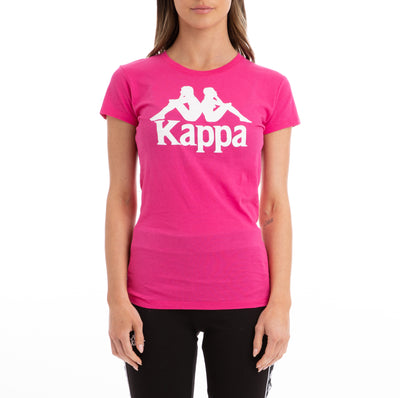 Kappa Authentic Westessi Fuchsia Lt White T-Shirt