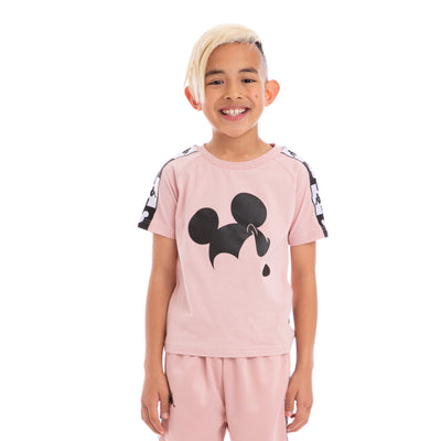 Kappa Kids Authentic Alvar Disney Pink Dusty Black T-Shirt