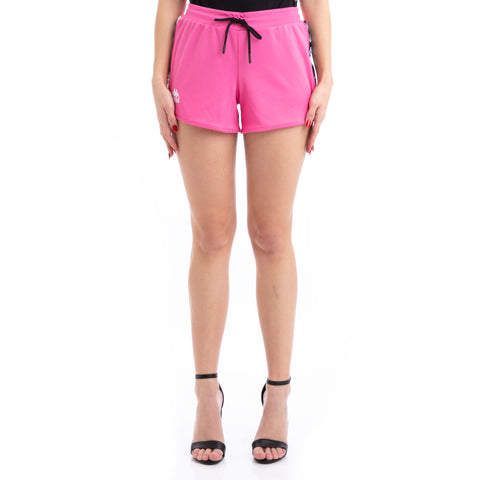 Kappa 222 Banda Anguy Alternating Banda Fuchsia White Black Shorts