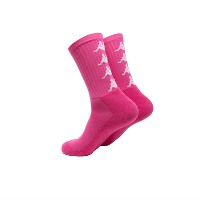 Authentic Amal 1 Pack Socks - Fuchsia Lt White