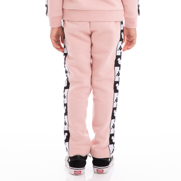 Kappa Kids Authentic Alphonso Disney Pink Dusty Black Sweatpants