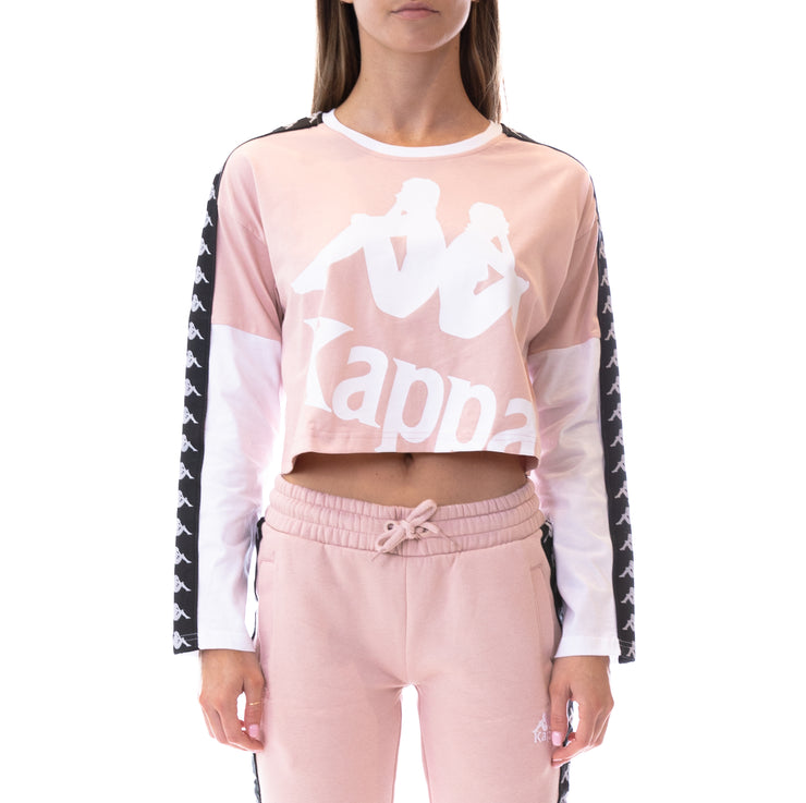 222 Banda Boculus Long Sleeves Tee - Pink White Black