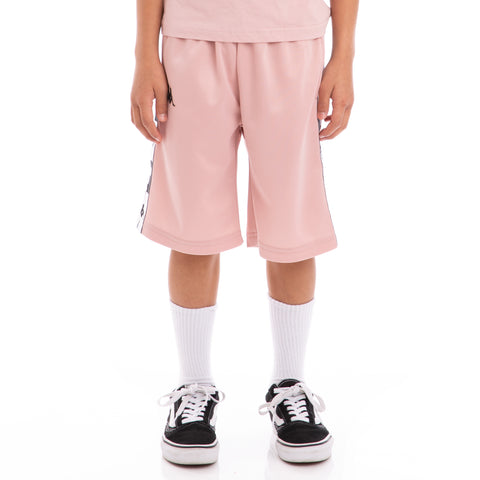 Kappa Kids Authentic Arwell Pink Dusty Black Shorts