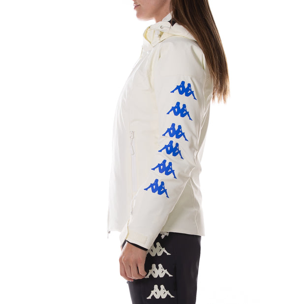 6Cento 652Xb White Antique Blue Ski Jacket