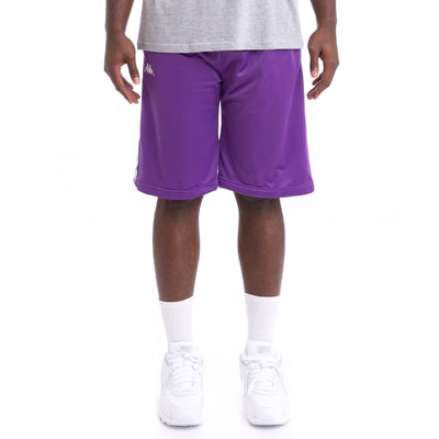 Kappa 222 Banda Treadwellz Alternating Banda Violet Black White Shorts