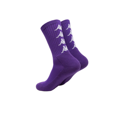 Authentic Amal 1 Pack Violet Pansy White Socks