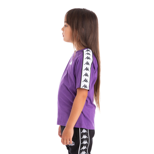 Kids 222 Banda Coen Alternating Banda Violet Black White T-Shirt