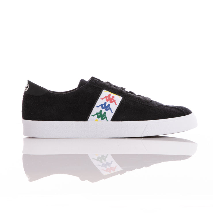Kappa 222 Banda Club 2 Black White Sneakers
