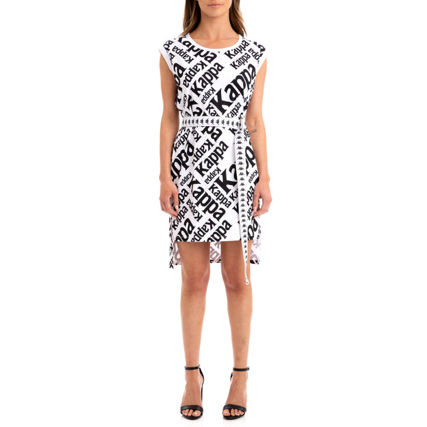 Kappa Authentic Bablo White Black Dress