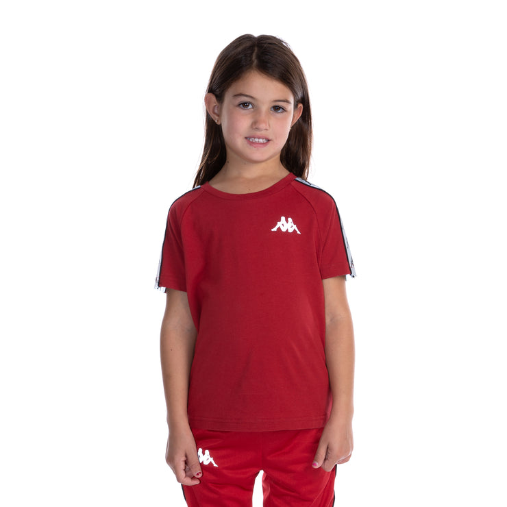 Kids 222 Banda Michael Reflective T-Shirt - Red Grey Reflective