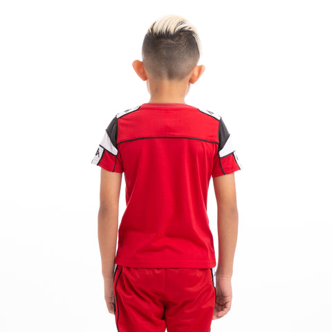 Kappa Kids 222 Banda Arar Slim Red Black White T-Shirt