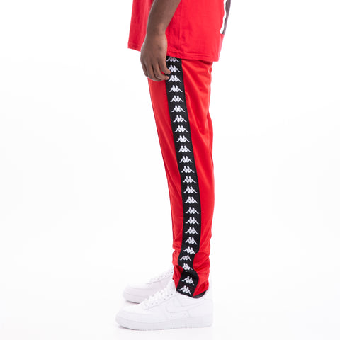 Kappa 222 Banda Astoria Slim Dk Red Black Trackpants