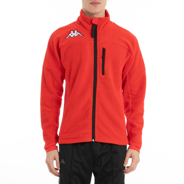 Kappa 6Cento 687 Fleece Jacket - Red Black
