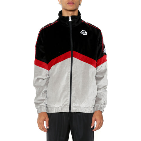 Kappa Authentic Cabrini Black Red Dk Grey Jacket