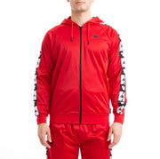 Kappa Authentic Ander Disney Red Black Hooded Track Jacket
