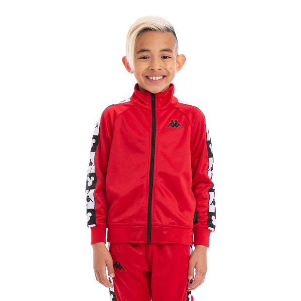 Kids Authentic Anne Disney Red Black Track Jacket