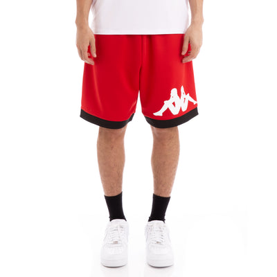 Kappa Authentic Bayn Red Black Shorts
