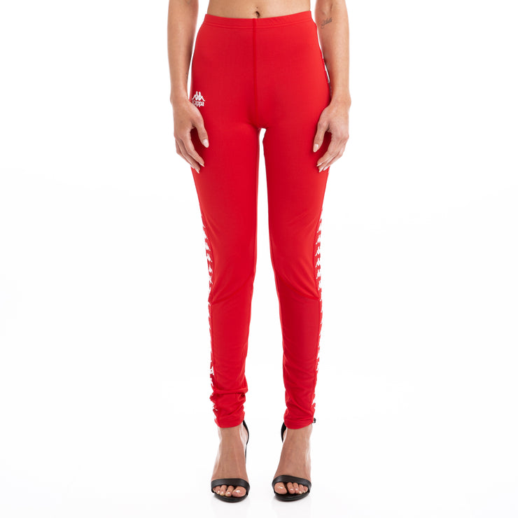 Kappa 222 Banda Baiko Red White Leggings