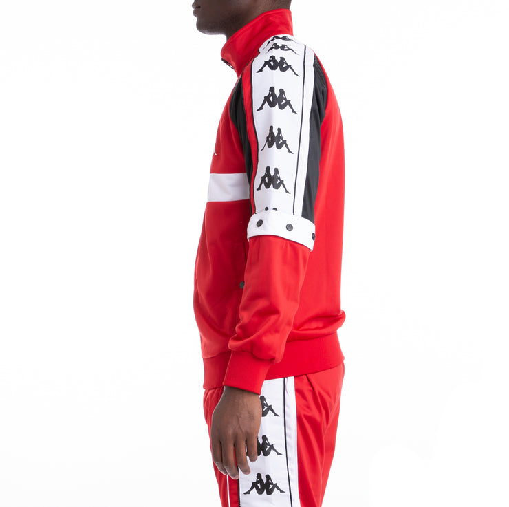 Kappa Authentic Bafer Red Black White Track Jacket