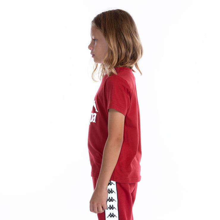 Kids 222 Banda Dris Reflective T-Shirt Red Grey Reflective
