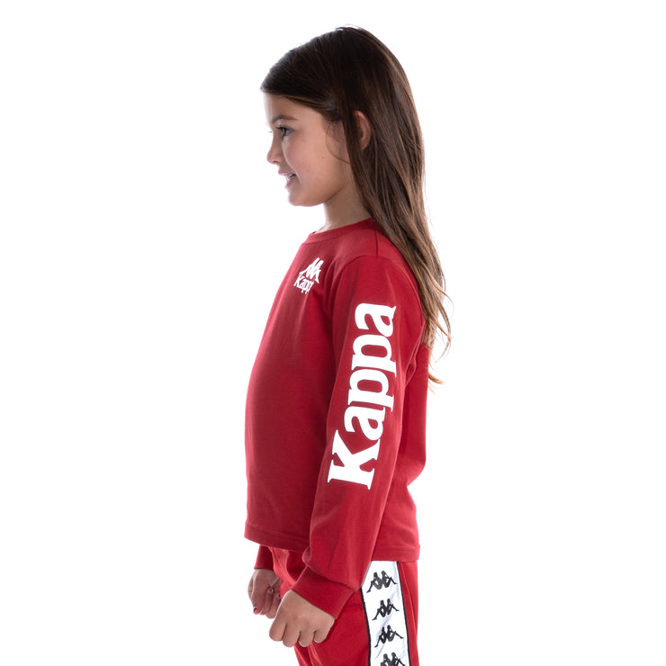 Kids Authentic Defer Reflective Long Sleeve T-Shirt Red Grey Reflective