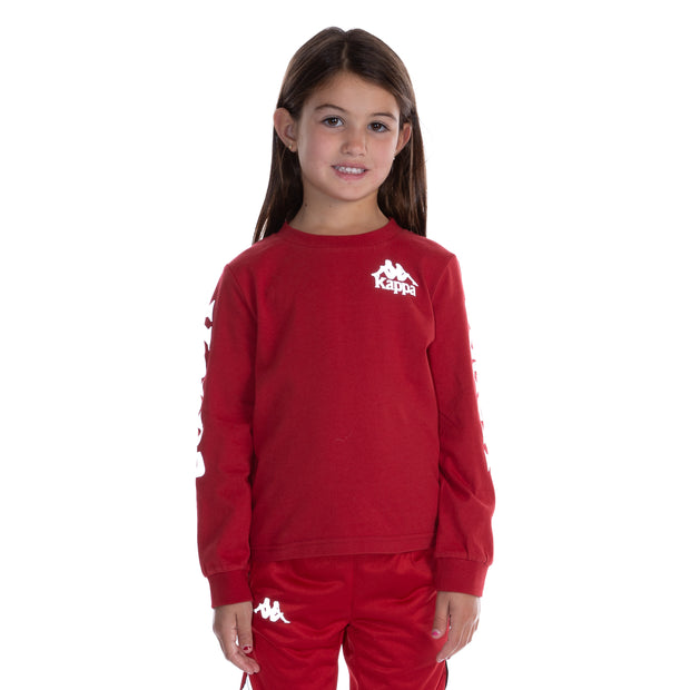Kids Authentic Defer Reflective Long Sleeve T-Shirt - Red Grey Reflective