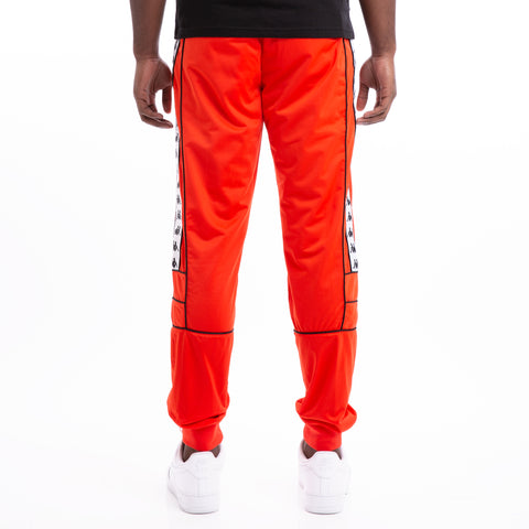 Kappa 222 Banda Mems Slim Red Orange White Black Pants