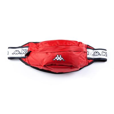 Logo Tape Bais Pouch Bag Red Chilli Pepper White Black